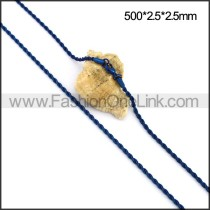 Unique Blue Plated Necklace n001111