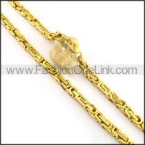 Golden Plated Necklace n000627
