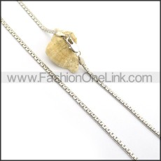 Silver Succinct Small Chain n000918
