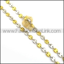 Silver and Gold Plated Necklace n000989