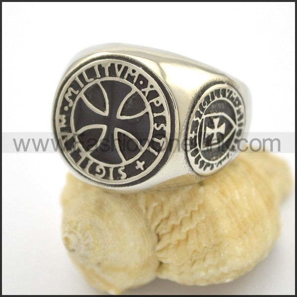 Delicate Cross Stainless Steel Ring    r002407