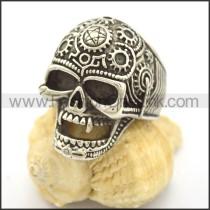Delicate Stainless Steel Skull Ring r002249