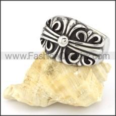 Stainless Steel Vintage Cross Ring r000554