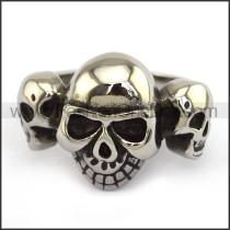 Stainless Steel Skull Ring  r003699