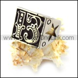 Number 13 Ring with Hollow Lucky Star r004662