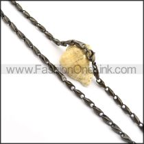 Black Plated Necklace n000684