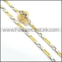 Good Quality Gold and Silver Plated Necklace n000758