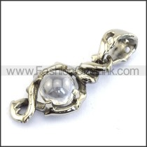 Delicate Stainless Steel Casting Pendant    p003533
