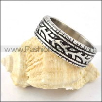 Narrow Stainless Steel Finger Ring  r000303