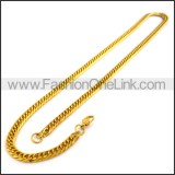 Delicate Golden Plated Necklace n001190