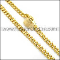 Gold Succinct Plated Necklace n000917
