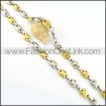 Delicate Two Tone Plated Necklace      n000188