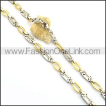 Hot Selling Gold and Silver Plated Necklace n000770