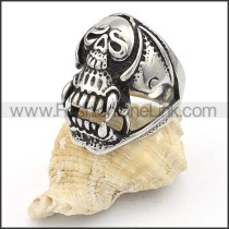 Stainless Steel Punk Style  Skull Ring  r000344