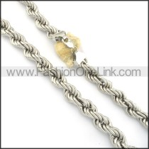Exquisite Stainless Steel Stamping Necklace n000549
