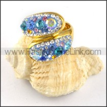 Stainless Steel Colorful Stone Ring r000238