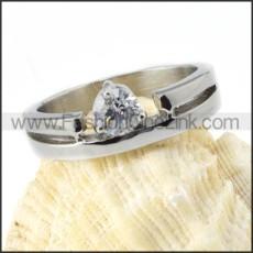 Comfort Fit Zircon Wedding Ring r000026