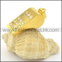Delicate Stainless Steel Plating Pendant   p001383
