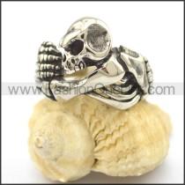 Stainless Steel Skull Ring r002097