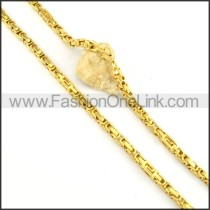 Succinct Golden Plated Necklace  n000149