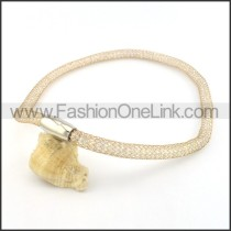 Unique Hollowed-out Plated Necklace    n000499