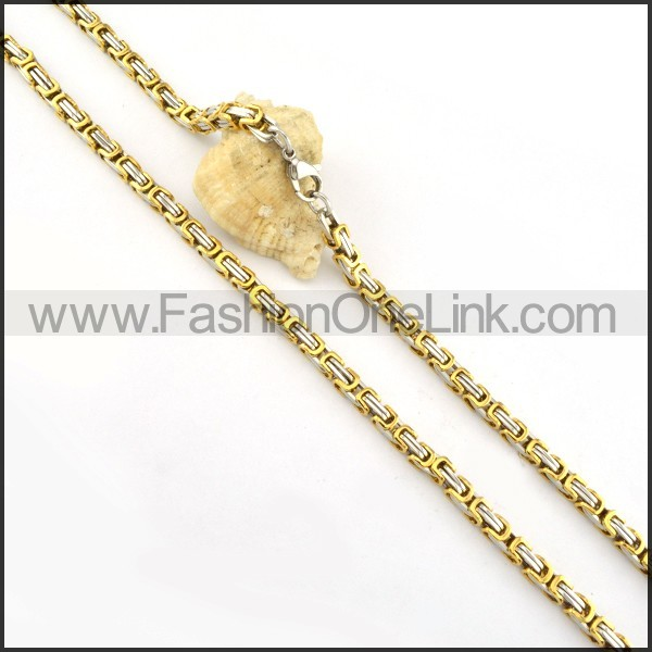 Delicate Golden Plated Necklace  n000156