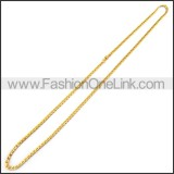 Hot Selling Golden Plated Necklace n001193