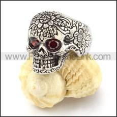 Noncorrosive Steel Biker Punk Style Skull Ring r000516