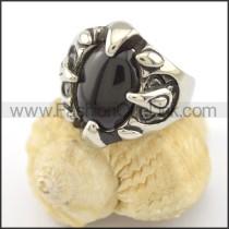 Vintage Prong Setting Black Zircon Ring r001645