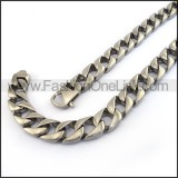 Interlocking Chain Stamping Necklace n001129
