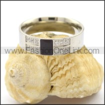 Exquisite Stone Stainless Steel Ring  r002197