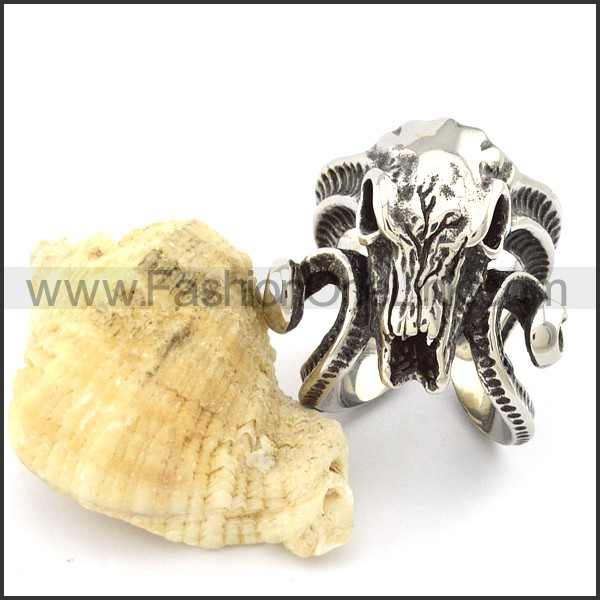 Stainless Steel Casting Sheepshead Ring r001056