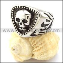 Stainless Steel Skull Ring r000856