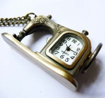 Vintage Sewing Machine Pocket Watch Chain PW000035