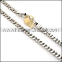 Silver Stamping Necklace  n000086