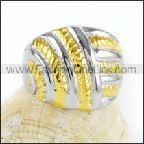 Stainless Steel Plated Hollowed-out Ring r000039