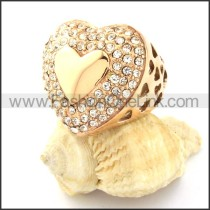Stainless Steel Heart-shaped Ring r000756