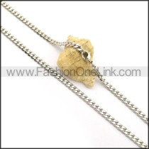 Classic Stainless Steel Stamping Necklace n000999
