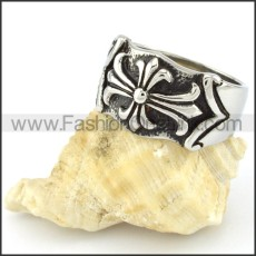Stainless Steel Fashion Cross Ring  r000552
