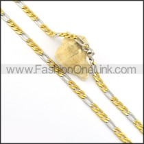 Two Tone Plated Necklace n000662