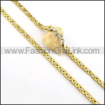 Succinct Golden Plated Necklace    n000162