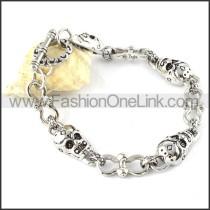 Exquisite Stainless Steel Skull Bracelet b000349