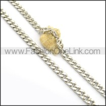 Silver Interlocking Stamping Necklace n000950
