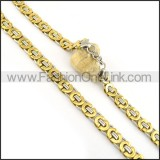 Delicate Gold Plated Necklace n000610