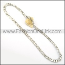 Interlocking Chain Stamping Necklace      n000247