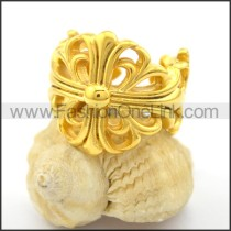 Beautiful Flower Stainless Steel Ring r001750