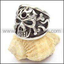 Stainless Steel Punk Design Skull Ring r000476