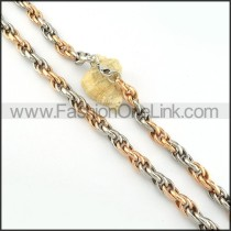 Two Tone Plated  Necklace   n000229