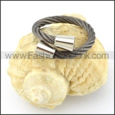 Stainless Steel Classic Rope Ring r000557