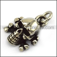 Exquisite Stainless Steel Skull Pendant   p003993